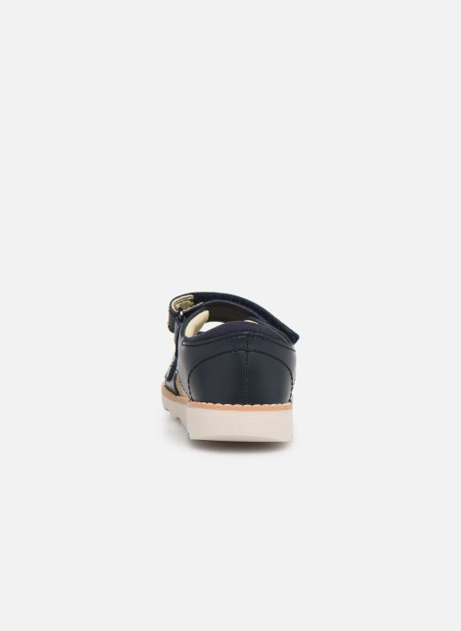 Sandales et nu-pieds Clarks Crown Root T Bleu vue droite