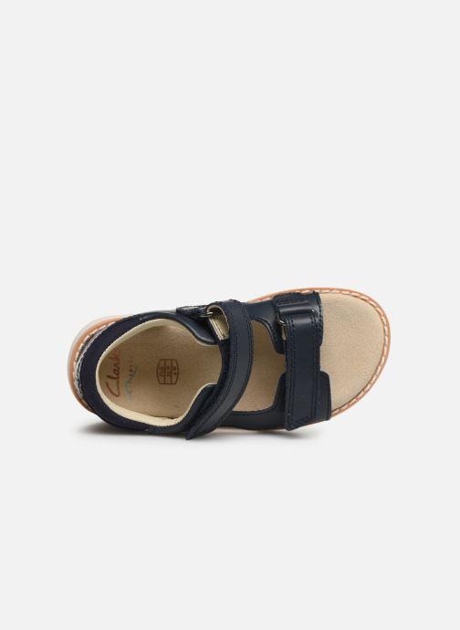 Sandales et nu-pieds Clarks Crown Root T Bleu vue gauche