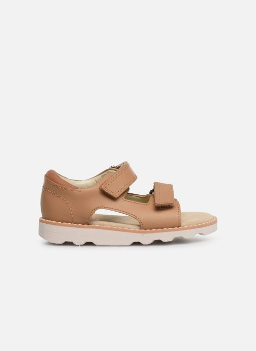Sandals Clarks Crown Root T Beige back view