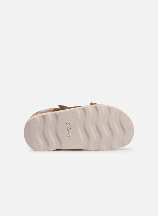 Sandals Clarks Crown Root T Beige view from above