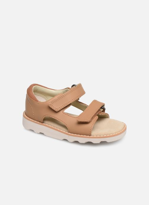 Sandals Clarks Crown Root T Beige detailed view/ Pair view