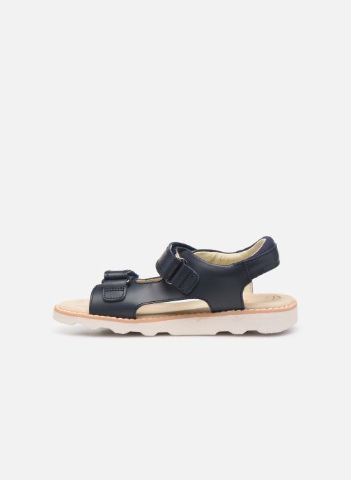 Sandales et nu-pieds Clarks Crown Root K Bleu vue face