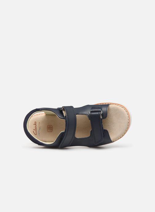 Sandales et nu-pieds Clarks Crown Root K Bleu vue gauche