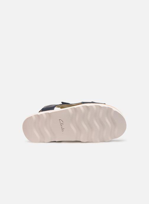 Sandales et nu-pieds Clarks Crown Root K Bleu vue haut