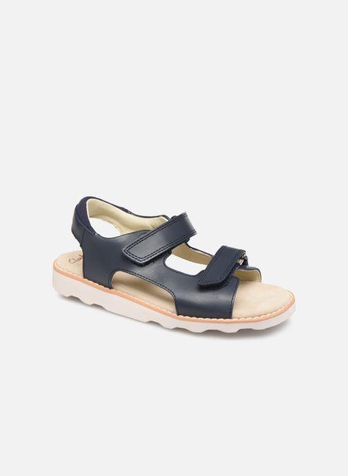 Sandales et nu-pieds Clarks Crown Root K Bleu vue détail/paire