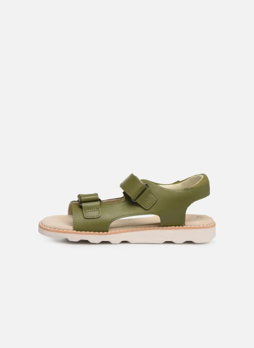 Sandales et nu-pieds Clarks Crown Root K Vert vue face
