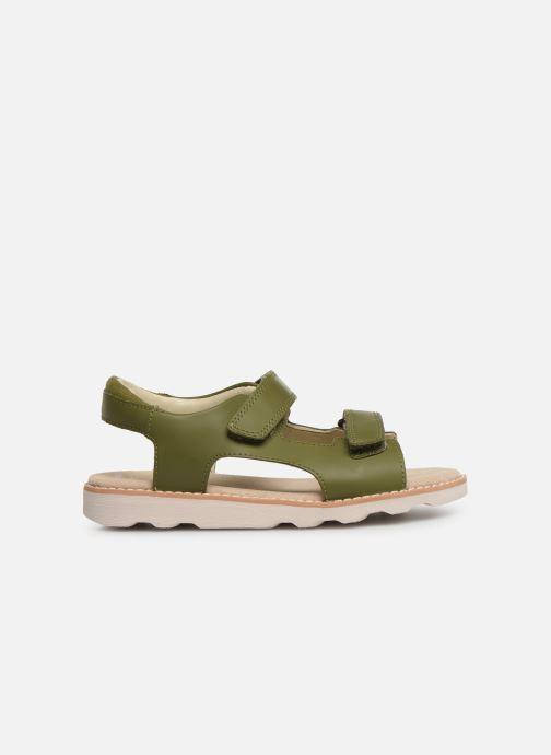 Sandales et nu-pieds Clarks Crown Root K Vert vue derrière