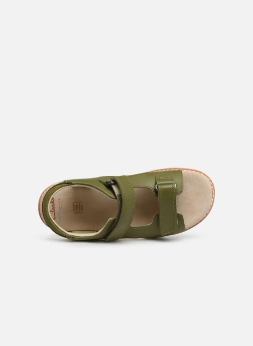 Sandales et nu-pieds Clarks Crown Root K Vert vue gauche