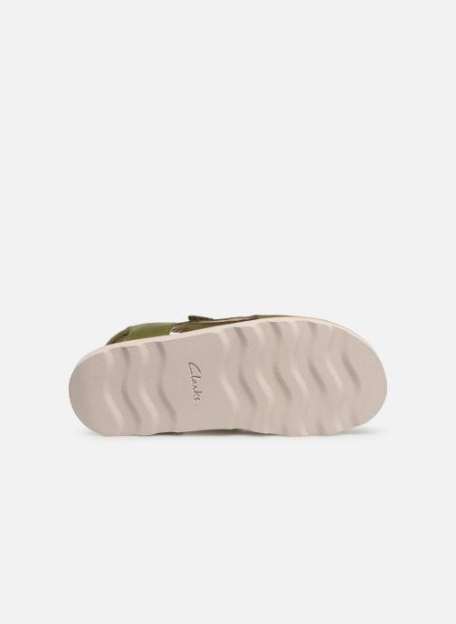 Sandales et nu-pieds Clarks Crown Root K Vert vue haut