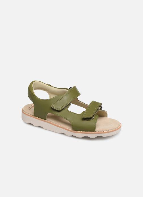 Sandales et nu-pieds Clarks Crown Root K Vert vue détail/paire