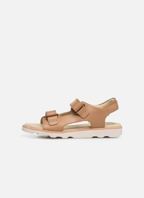 Sandales et nu-pieds Clarks Crown Root K Beige vue face