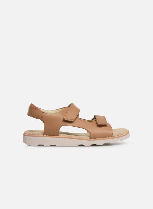 Sandales et nu-pieds Clarks Crown Root K Beige vue derrière