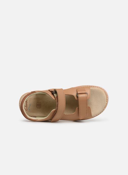 Sandales et nu-pieds Clarks Crown Root K Beige vue gauche