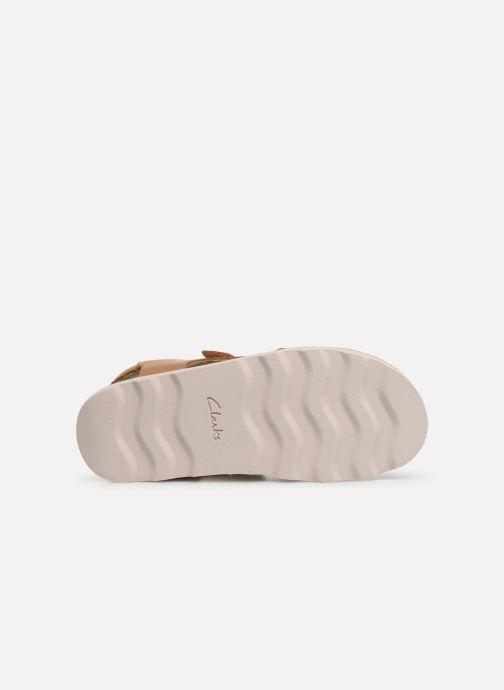 Sandales et nu-pieds Clarks Crown Root K Beige vue haut