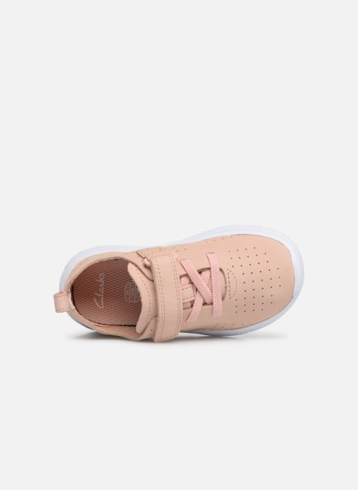 Trainers Clarks Ath Elite Pink view from the left