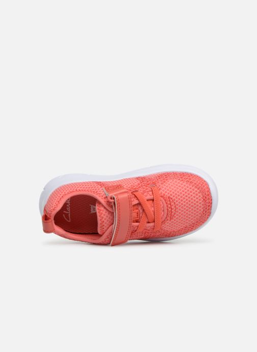 Trainers Clarks Ath Flux Pink view from the left