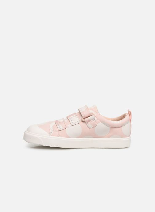 Baskets Clarks City FlareLo K Rose vue face