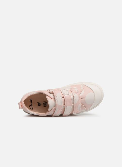 Baskets Clarks City FlareLo K Rose vue gauche