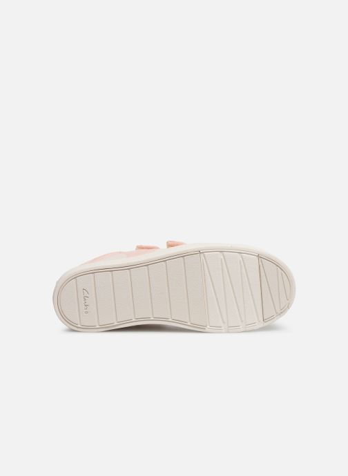 Baskets Clarks City FlareLo K Rose vue haut
