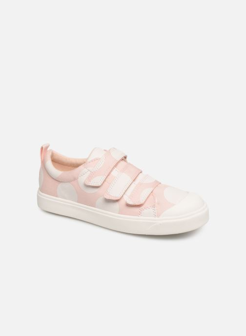 Baskets Clarks City FlareLo K Rose vue détail/paire