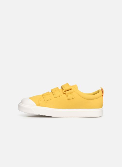 Baskets Clarks City FlareLo K Jaune vue face