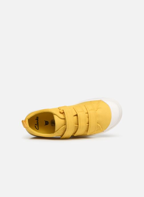 Trainers Clarks City FlareLo K Yellow view from the left