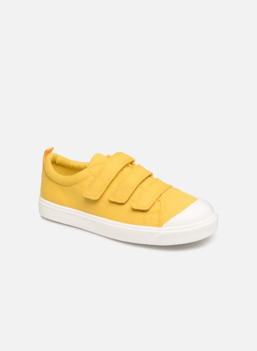 Trainers Clarks City FlareLo K Yellow detailed view/ Pair view