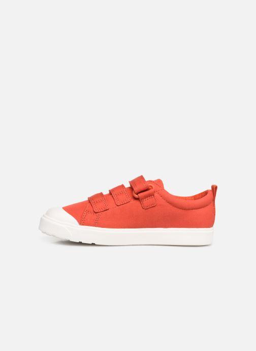 Sneaker Clarks City FlareLo K orange ansicht von vorne