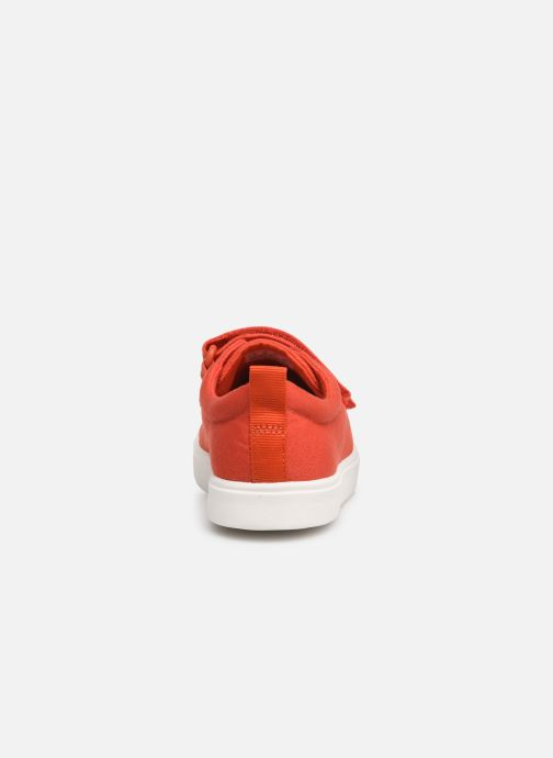 Baskets Clarks City FlareLo K Orange vue droite