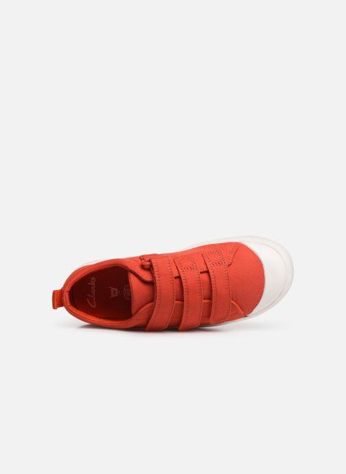Sneaker Clarks City FlareLo K orange ansicht von links