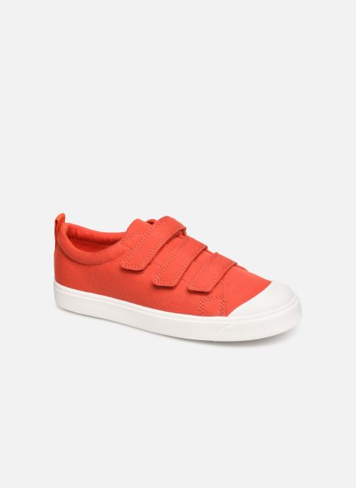 Baskets Clarks City FlareLo K Orange vue détail/paire