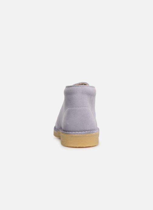 Zapatos con cordones Clarks Desert Boot... Azul vista lateral derecha