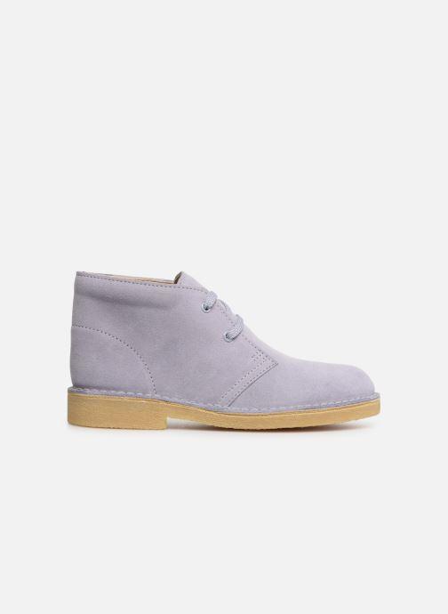 Chaussures à lacets Clarks Desert Boot... Bleu vue derrière