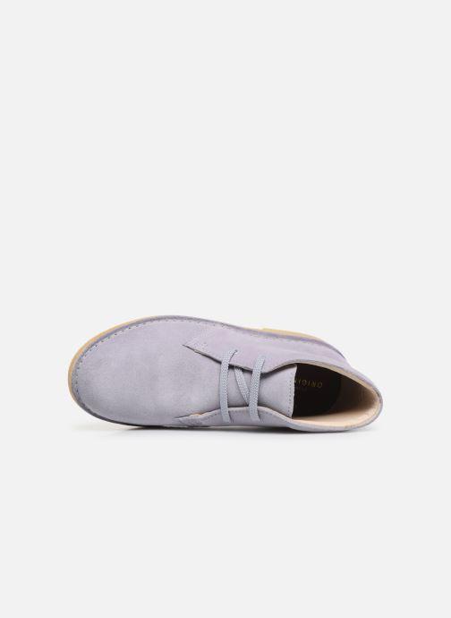 Chaussures à lacets Clarks Desert Boot... Bleu vue gauche