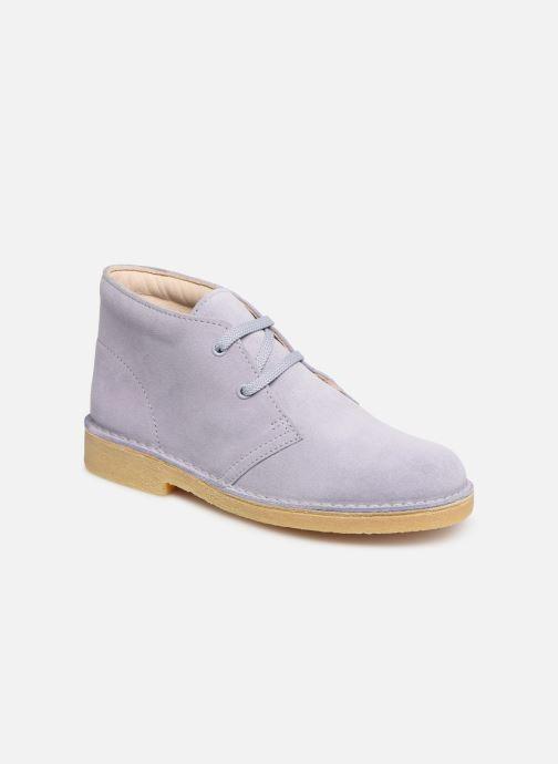 Chaussures à lacets Clarks Desert Boot... Bleu vue détail/paire