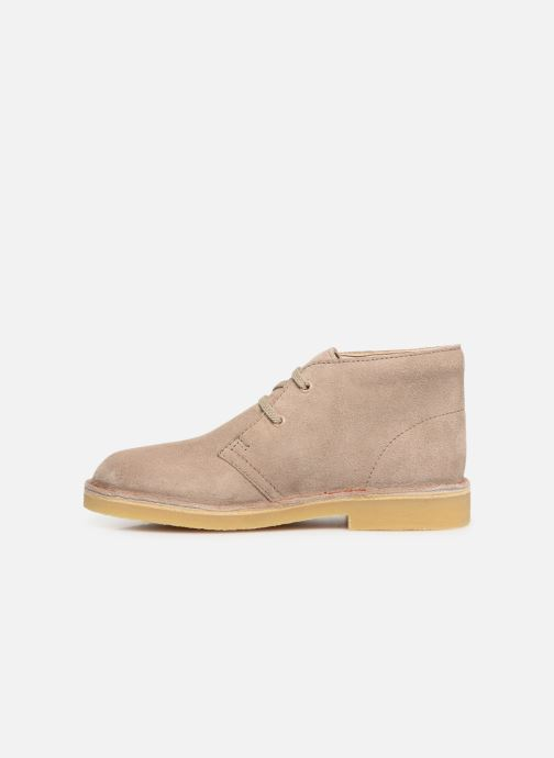 Lace-up shoes Clarks Desert Boot... Beige front view