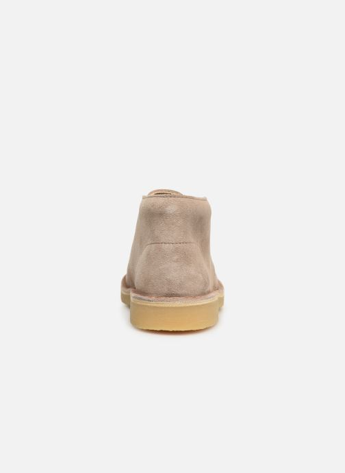 Lace-up shoes Clarks Desert Boot... Beige view from the right