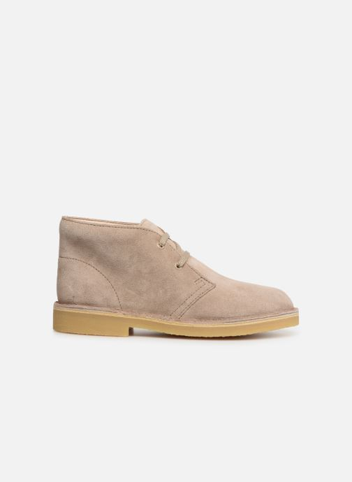 Lace-up shoes Clarks Desert Boot... Beige back view