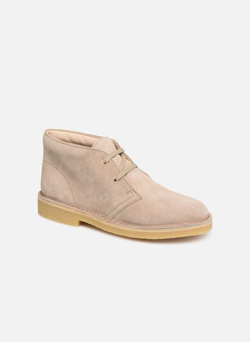 Lace-up shoes Clarks Desert Boot... Beige detailed view/ Pair view