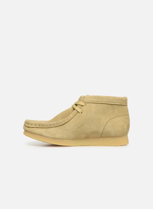 Chaussures à lacets Clarks Wallabee Boot Beige vue face