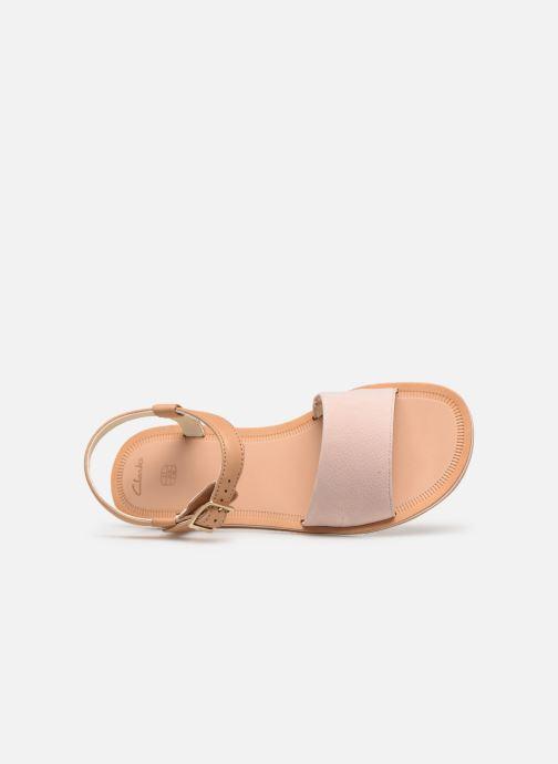 Sandales et nu-pieds Clarks Skylark Pure Rose vue gauche