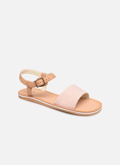 Sandaler Clarks Skylark Pure Pink detaljeret billede af skoene