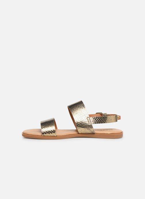 Sandales et nu-pieds Bianco 20-49962 Or et bronze vue face