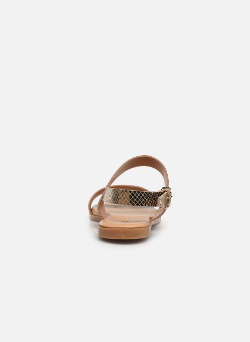 Sandales et nu-pieds Bianco 20-49962 Or et bronze vue droite