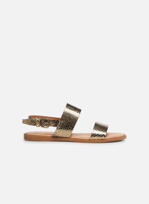 Sandales et nu-pieds Bianco 20-49962 Or et bronze vue derrière