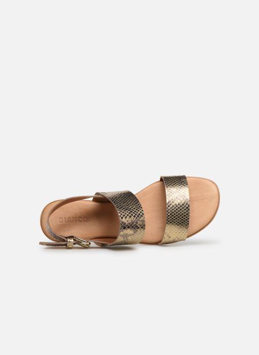 Sandales et nu-pieds Bianco 20-49962 Or et bronze vue gauche
