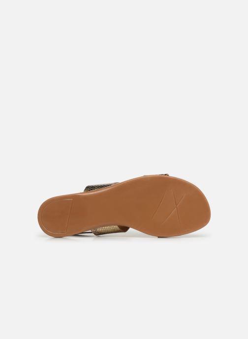 Sandales et nu-pieds Bianco 20-49962 Or et bronze vue haut