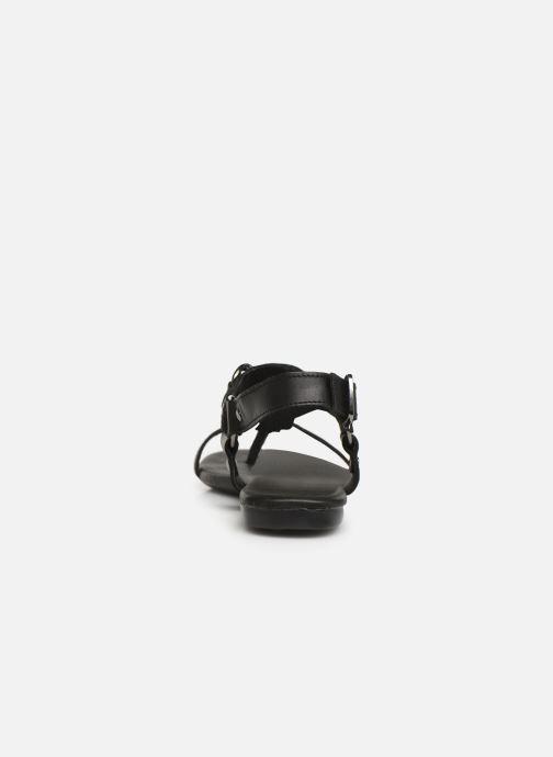Sandales et nu-pieds Bianco 20-50107 Noir vue droite