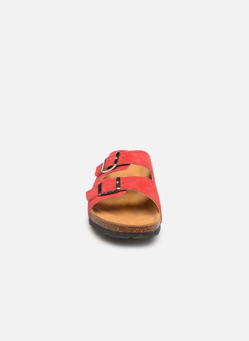 Mules et sabots Bianco 21-49661 Rouge vue portées chaussures