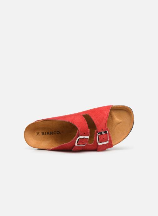 Mules et sabots Bianco 21-49661 Rouge vue gauche